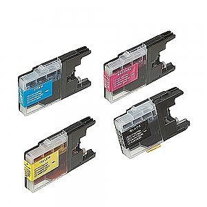2 x Brother LC-1220/LC-1240 XL set, compatible