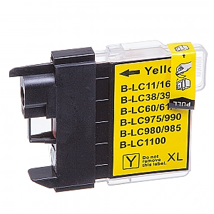 Brother LC-980/LC-1100Y XL geel, compatible