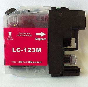 Brother LC-123M magenta met chip, compatible