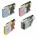 2 x Brother LC-125 XL / LX-127 XL set met chip, compatible