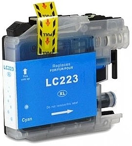 Brother LC-223C cyaan met chip, compatible