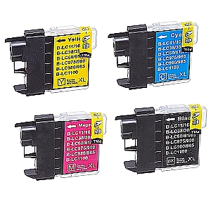 2 x Brother LC-980/LC-1100 XL set, compatible